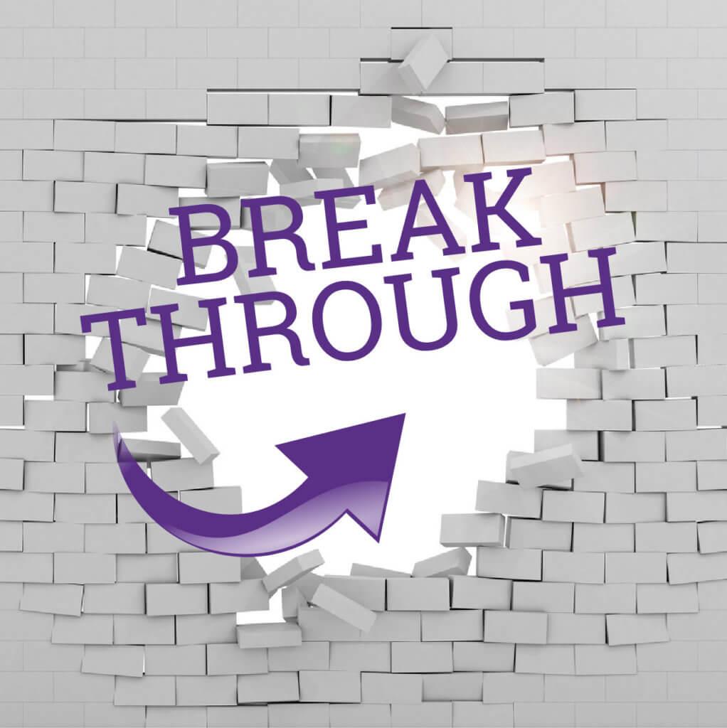 BREAK THROUGH square